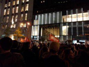 Protest outside Trump Tower, New York